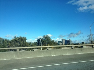 all blue skies-Sac in the distance